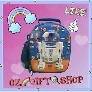 Smiggle Star Wars R2D2 Hardtop Double Decker Curved 3D Lunchbox Limited Edition
