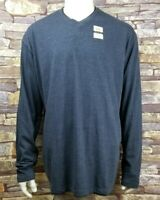 Mens 2XL XXL LEE Gentle Soft Touch Blue V-Neck Pullover