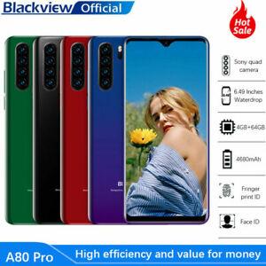 Blackview A80 Pro Téléphone portable A60 Waterdrop 4680mAh Smartphone débloque