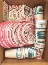Spa Party Supply Paper Plates, Napkins, Cups, Photo Booth Props