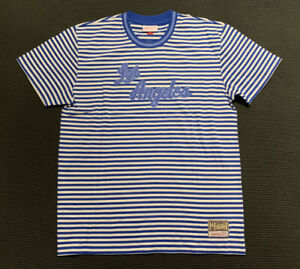 Mitchell & Ness NBA Los Angeles Lakers Striped Oversized T-shirt Tee Size L