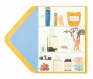 PAPYRUS Get Well Soon Card - 3D mini tea-bag, tonic, honey, almonds - Rejuvenate
