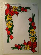 Window Color Fensterbilder Deko 2 Blumenranken Nr.2