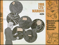1986 Ford LTD Mercury Marquis Electrical and Vacuum Troubleshooting Manual 86