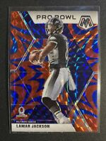 2020 Lamar Jackson Blue Reactive Mosaic Pro Bowl Baltimore Ravens