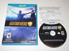 Guitar Hero Live (Nintendo Wii U, 2015) Game Only