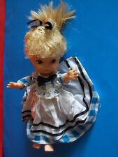 Adorable Vintage Horsman Blonde Hair Blue Eyes Baby Girl Doll w/ Dress #3028 Guc