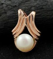 Pearl Gemstone Party Wear Rose Gold Plated Pendant 925 Sterling Silver Jewelry