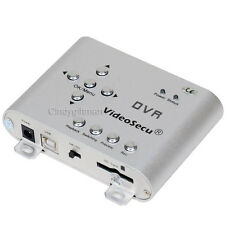 SD Card DVR 2 CH Surveillance Audio Video Security MPEG-4 Portable CCTV Home CTV