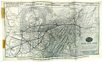 1930s New York Central System Water Level Route Railroad Map Schedule Timetable