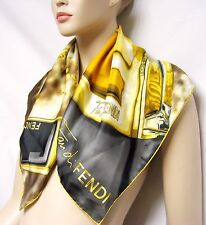 ITALY FENDI Fan Di SETA Silk 67x67 Women Scarf Perfume Eau De Lady Wrap Shawl