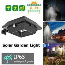 Solarleuchten 6LEDs fur Dachrinnen Zaun mit PIR Sensor//Lichtsensor Beleuchtung