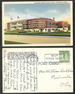 1941 Indiana Postcard - Evansville - National Guard Armory