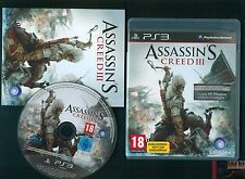 ASSASSIN'S CREED 3 JEU CONSOLE PS3 PLAYSTATION 3 COMPLET BE (GERMAN VERSION)