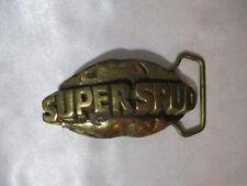 Vintage Solid Brass Made In Usa Super Spud Potato Belt Buckle