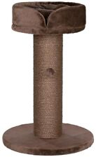 Scratching Post 7 in. Dia Chocolate Brown Sisal with Removable Ring-Shaped Bed