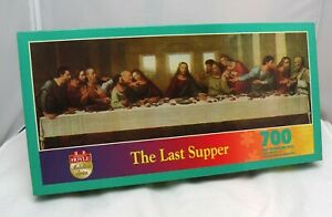 1995 Hoyle Medallion Series THE LAST SUPPER 700 Piece Puzzle #8701 NEW