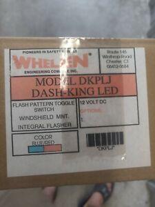 Whelen Dash-King DKPLJ RED/BLUE LED Dash Deck Light Windshield Mnt NEW IN BOX