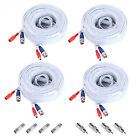 4PCS 100ft Video Power BNC Cable Cord for AHD CCTV Security Camera DVR System