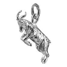Goat Charm Sterling Silver .925 Animal Pendant Capricorn Farm