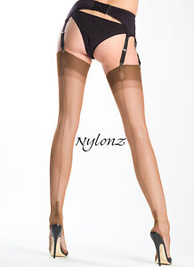 Gio Fully Fashioned Stockings - BRONZE - Imperfects - from NYLONZ
