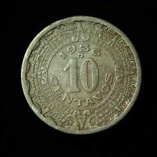 1936 Mexico Ten Centavos AU - Lot #5029