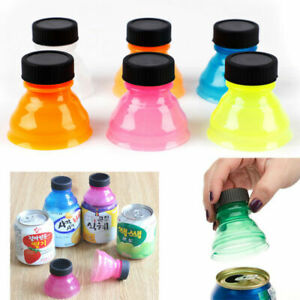 6Pcs Plastic Drinking Bottle Caps Can Convert Soda Savers Toppers Lid Protector