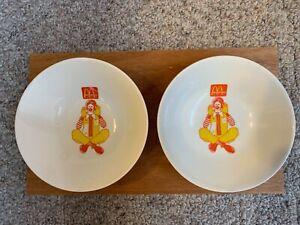 1990's McDonald's ( 2 ) Vintage Cereal bowls, Ronald McDonald character
