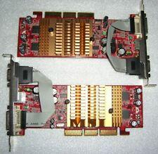 2x MSI MS-8998 nVidia GeForce 5 FX 5200 128MB AGP Grafikkarte NV34 AGP8X passiv