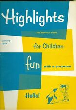 1964 Highlights for Children Magazine: Pet Shop/Downy Woodpecker/Ben Franklin