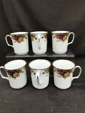 ROYAL ALBERT OLD COUNTRY ROSE Set Of Six Tall Mugs 1st Quality Excellent