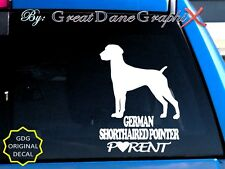 German Shorthaired Pointer Parent(S) Vinyl Decal Sticker / Color Choice