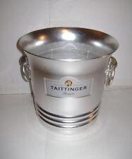 Vintage Taittinger Reims Champagne Ice Bucket Aluminum Made in France Argit RARE