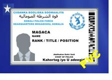 SOMALI ID COLLECTOR CARDS <<SPF>> SOMALI NAT'L POLICE FORCE