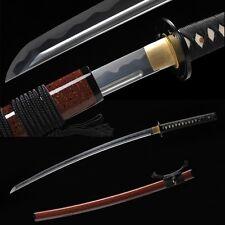 Handmade Japanese Samurai Sword Katana Folded Pattern Steel Blade Battle Ready