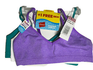 Hanes Seamless Pullover Bra Size Large Girls Bralette 3 Pack NWT