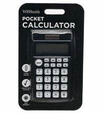 Whsmith Black Pocket Calculator Dual Powered 8 Digit Display With Other Function