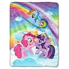 My Little Pony Super Plush Blanket Throw, Rainbow Dash, Twilight Sparkle