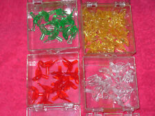 Holiday light pegs, doves, 4 colors, green, red, yellow, clear 59 ct