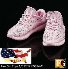 1/6 sneakers Pink female man lady sport running phicen hot toys kumik ❶USA❶