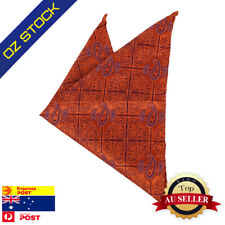 Popular Mens Party Pocket Square Orange Pattern Handkerchief Dan Smith DEE7B06D