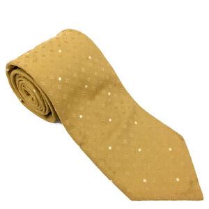 Louis Vuitton Monogram Gold Silk Tie /81642