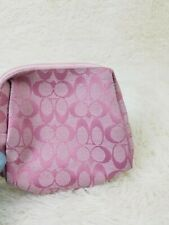 Coach Cosmetic Pouch Pink White