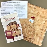 Hen Feathers fabric panel 1 & project instructions Just Another Day In The Coop