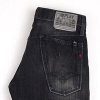 Replay Herren Gerades Bein Jeans Größe W29 L32 ARZ1022