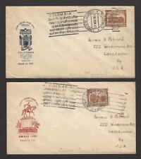 Santa Lucia Maiden Voyage covers collection Mexico, Guatemala, Canada, etc. (8)