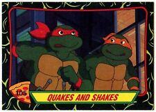 Quakes & Shakes#105 Teenage Mutant Ninja Turtles S.2 Topps 1989 Trade Card-C1424