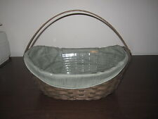 Longaberger 2009 Medium Crocus Basket Set/Deep Brown Stain
