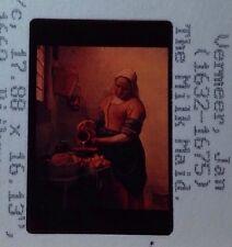 """Jan Vermeer """"the Milk Maid 1660"""" 35mm Dutch Baroque Golden Age Art Slide"""