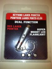 Dual Function Keyring laser pointer <1mW output with Super Bright Led flashlight